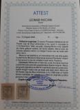 Cumpara ieftin MOLDOVA 1858 CAP DE BOUR  40par. ALBASTRU VERZUI-HARTIE GALBUIE SUBTIRE, MI.#6y.