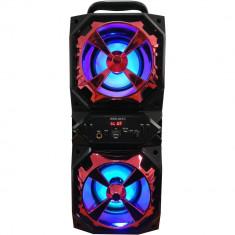 Boxa portabila Wireless Karaoke WKS-941, lumini RGB, USB, FM Radio, TF Card, AUX + microfon
