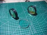 Lentila optica acromata 51mm df18cm set 3 bucati /lupa