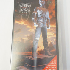 Caseta video VHS originala muzica - Michael Jackson Video Greatest Hits History