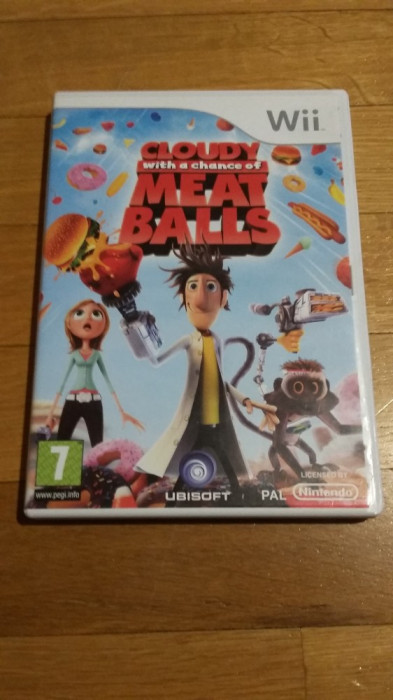 WII Cloudy with a chance of meat balls original PAL / by Wadder