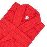 Cumpara ieftin Halat Bianca de baie pentru hotel 100% bumbac culoare rosu marime S/M