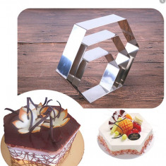 Set 3 forme prăjituri/tort diplomat din inox, diverse forme