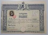 1932 Diploma de bacalaureat per. Carol II