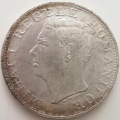 LICITATIE: 500 Lei 1944 - Mihai I - Moneda Argint ROMANIA
