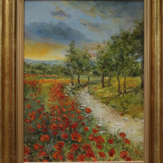 Tablou Peisaj maci rosii