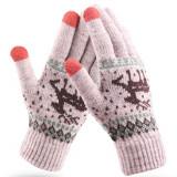 [Indika ] - TouchScreen Raindeer Woolen Gloves ST0002 Khaki