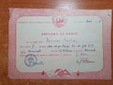 Diploma de merit clasa a 5-a-scoala de pe langa liceul de fete bucuresti - 1951