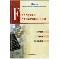 Finantele intreprinderii - Sinteze, teste, probleme