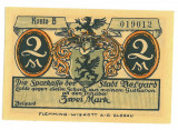 17 - Jeton GERMANIA - 2 Mark - 1921 UNC ( 9 / 6 cm )