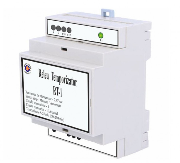 Releu temporizator iluminat cu un canal cod RT-1