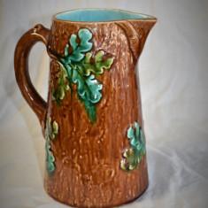 Carafa / Cana din majolica Sarreguemines - inceput de secol XX