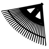 GREBLA PLASTIC EVANTAI 610MM / 24 DINTI / NEAGRA