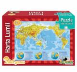 Cumpara ieftin Puzzle educativ - Harta lumii, 100 piese