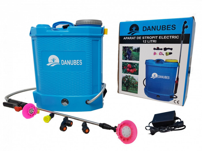 Pompa stropit electrica Danubewd Tools®, 12 Litri, 5.5 bar , acumulator 12V 8AH