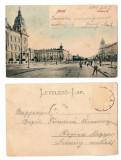 Arad 1903 - Piata Andrassy, ilustrata circulata