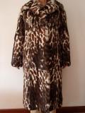Palton blana nobila zibelina/marmota autentica conditie impecabila