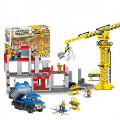 SUPER SET 714 PIESE JOC CONSTRUCTIE TIP LEGO,ECHIPA PE SANTIER,COMPATIBIL 100%.