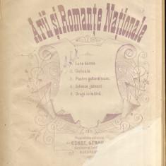 Arii si Romante Nationale - Partitura Muzicala Romaneasca Rara C. Gebauer