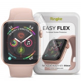 Folie protectie transparenta TPU Case friendly Ringke Easy Flex Apple Watch 4/5/6/SE (44mm) 3-Pack