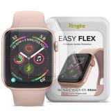 Cumpara ieftin Folie protectie transparenta TPU Case friendly Ringke Easy Flex Apple Watch 4/5/6/SE (44mm) 3-Pack
