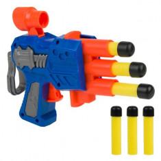 Arma de jucarie pentru copii, model lansator cu 6 proiectile, 12 cm