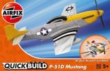 Macheta avion de construit Mustang P-51D, Airfix