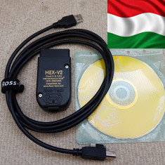 VAG COM VCDS 19.6 HEX-V2  limba MAGHIARA + ENGLEZA, HU full chip , cal A+
