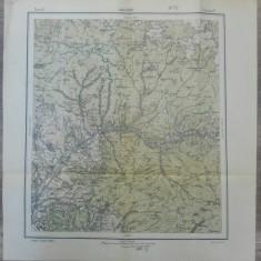 Magyaro, Alunis// harta Serviciul Geografic Armatei 1916