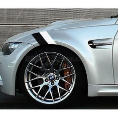 Sticker ornament auto BMW Flag - Black/White