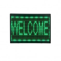 Reclama luminoasa de interior, 34 x 34 cm, LED, text personalizat, Verde