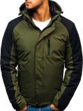 Geacă de iarnă pentru bărbat verde Bolf HZ8102