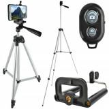 Cumpara ieftin Suport Trepied Foto 3D pentru Telefon sau Camera cu Telecomanda Bluetooth pentru Actionare de la Distanta, Inaltime Reglabila 45-133cm, Proline