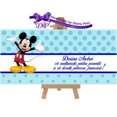 Plic de bani pentru botez Mickey Mouse Handmade by Diana Puiu PBBM 1