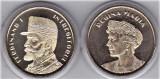 Lot 2 monede 50 bani 2019 UNC  din fisic Ferdinand+regina Maria in CAPSULA
