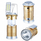 Felinar Solar Led 1W si 2 COB LED 3W cu USB si 220V YX5677COB