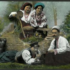 1918 Carte Postala Necirculata Port Popular Bucovina Bukowina