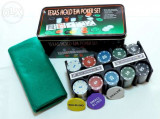 Trusa Poker 200 Jetoane Inscriptionate în Cutie Metalica. SIGILAT!