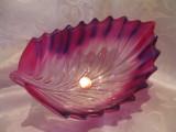 BOMBONIERA / FRUCTIERA WALTHER GLAS VIOLET 18.5 CM