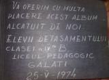 album vechi 1974,modele de CROSETAT si TRICOTAT-lucru manual Traditional,T.GRAT