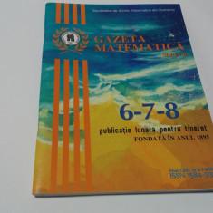 GAZETA MATEMATICA  NR 6-7-8/2016