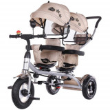 Cumpara ieftin Tricicleta Gemeni 2Play, Colectia 2020 Mocca, Chipolino
