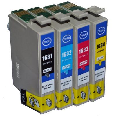 Set 4 Cartuse imprimanta Epson 16XL, T1635 ( T1631 + T1632 + T1633 + T1634 ) compatibile . foto