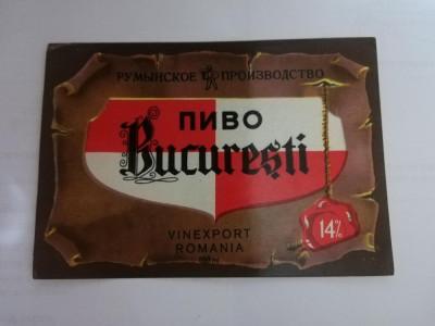Eticheta bere - BUCURESTI - Export - RAHOVA . foto