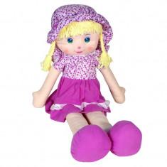 Papusa din material textil My Doll, 85 cm, Mov, Oem