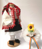 Cumpara ieftin Set Botez Traditional Delia 2 piese costumas si lumanare