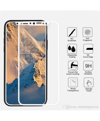 Geam Soc Protector Full LCD 5D Apple iPhone X 5.8 Alb foto