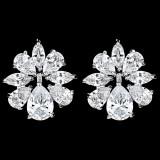 Cercei placati cu Aur 18K si Diamante, Iris Platinum