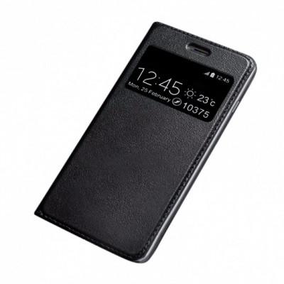 Husa SAMSUNG Galaxy S9 - Leather Window TSS, Negru foto