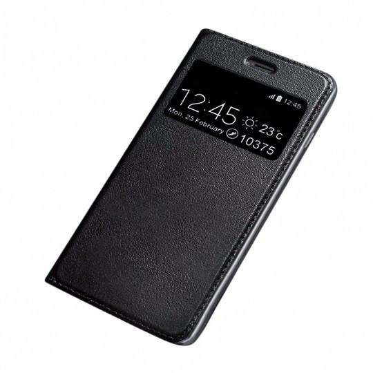 Husa SAMSUNG Galaxy S9 - Leather Window TSS, Negru